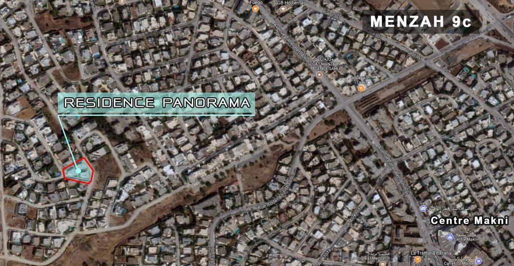 Panorama plan situation
